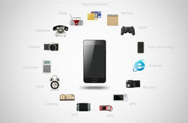 Teléfonos iconos y otros iconos relacionados