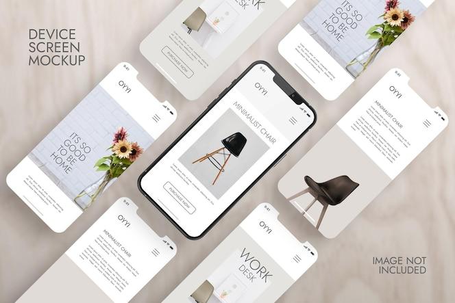 Telefoon en scherm - ui ux-app-presentatiemodel