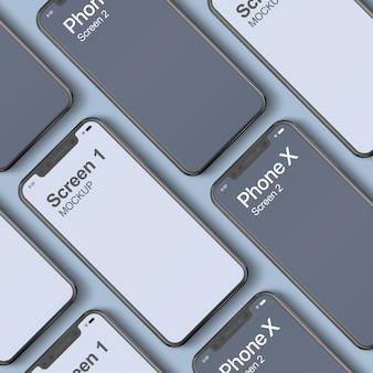Telefoon x mockup dual screen