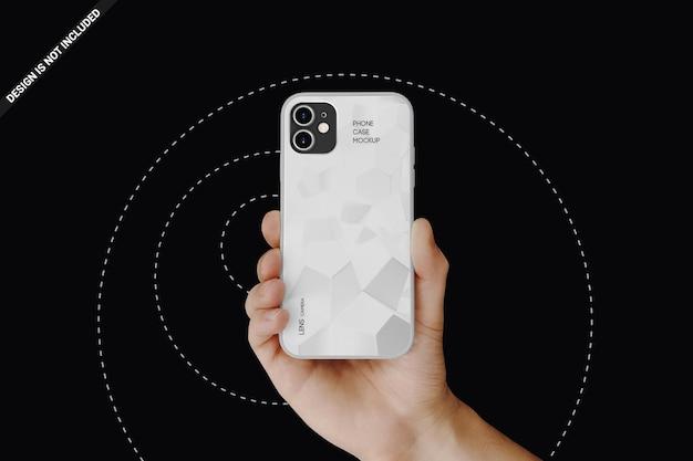 Telefoonhoes mockup ontwerp geïsoleerd