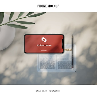 Telefoonschermmodel
