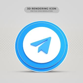 Telegram 3d weergegeven pictogram