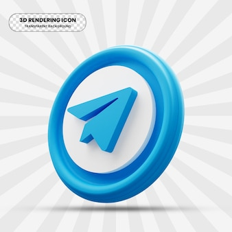 Telegram-pictogram in 3d-rendering