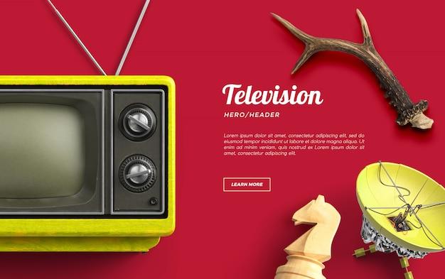 Television hero header escena personalizada