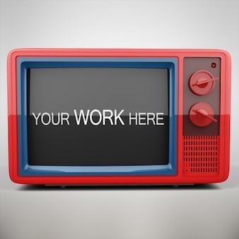 Televisione mock up di progettazione