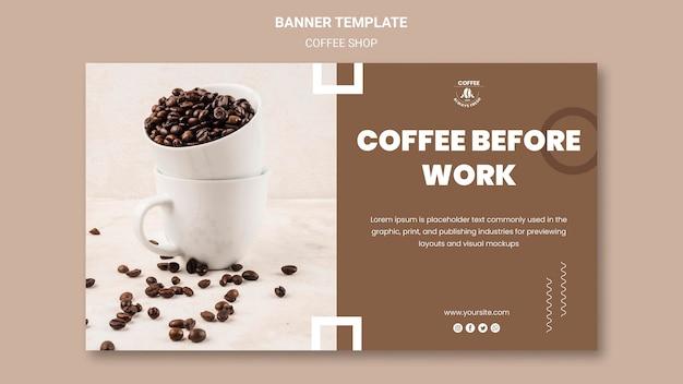 Tema de banner de cafetería