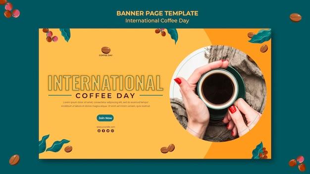 Tema de banner del día internacional del café