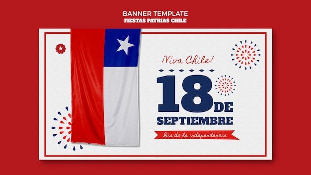 Tema de banner del día internacional de chile