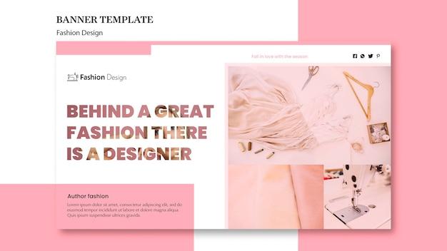 Tema de banner de diseño de moda