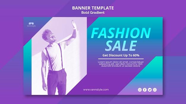 Tema de banner de venta de moda