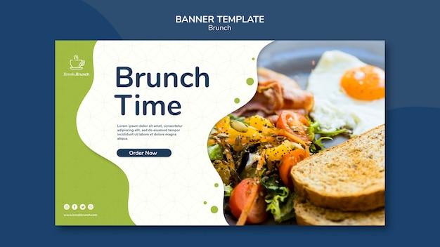 Tema de brunch para el concepto de plantilla de banner