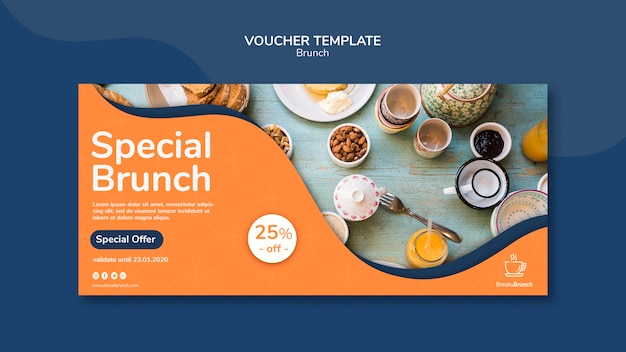 Tema brunch per tema modello voucher
