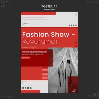 Tema del cartel del desfile de moda