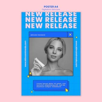 Tema de cartel de digitalismo para el cuidado de la piel