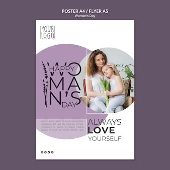 Tema del giorno della donna per modello di poster