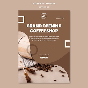 Tema del manifesto della caffetteria