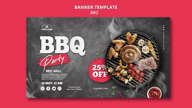 Tema del modello della bandiera del barbecue