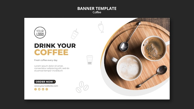 Tema del modello della bandiera del caffè