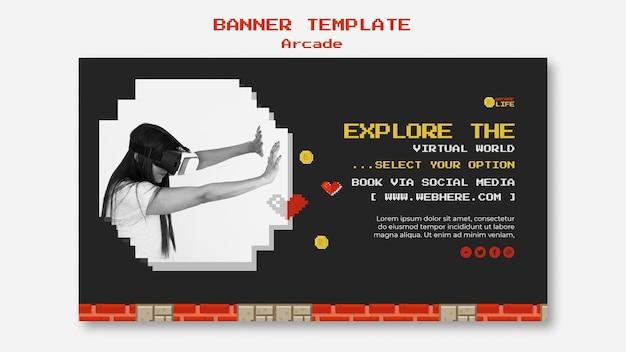 Tema del modello di banner arcade