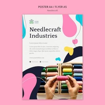 Tema del modello di poster di needlecraft