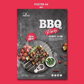 Tema del modello di poster per barbecue