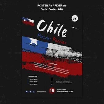 Tema del poster della giornata internazionale del cile