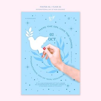 Tema del poster della giornata internazionale della non violenza