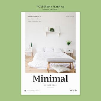 Tema del poster di interni minimal