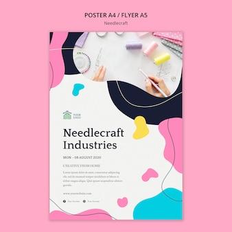 Tema del poster di needlecraft
