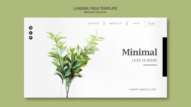 Tema della pagina di destinazione degli interni minimal