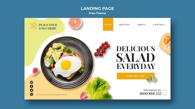 Tema della pagina di destinazione di alimenti sani