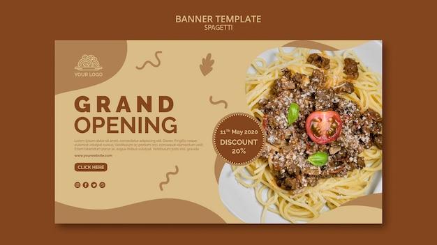 Tema di banner di cibo italiano