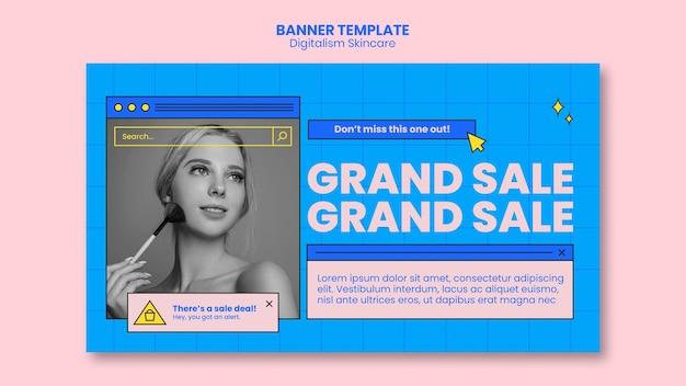 Tema di banner skincare digitalismo