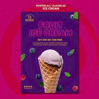 Tema di poster di gelato