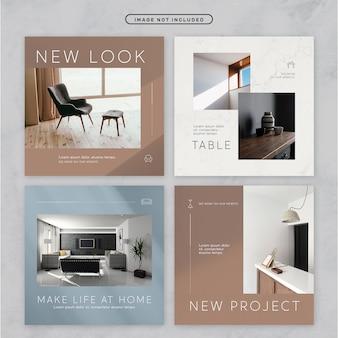 Tema de muebles minimalistas de redes sociales