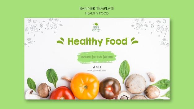Tema de plantilla de banner de comida sana