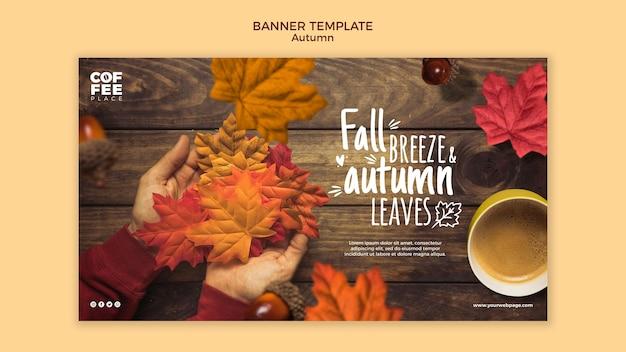 Tema de plantilla de banner de otoño