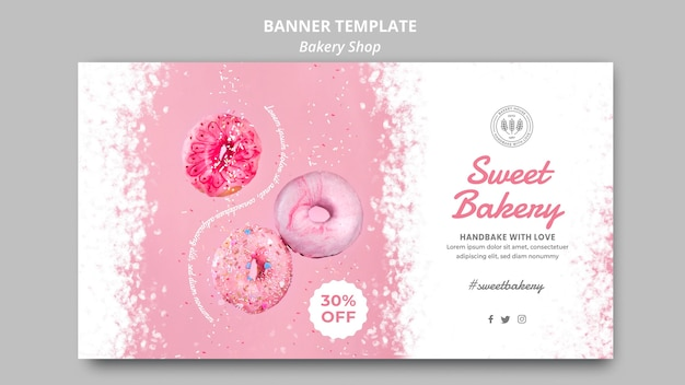 Tema de plantilla de banner de tienda de panadería