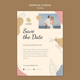 Tema de plantilla de cartel de boda