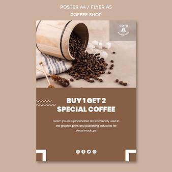 Tema de plantilla de cartel de cafetería