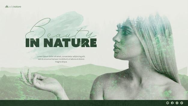 Tema de plantilla con diseño de naturaleza salvaje