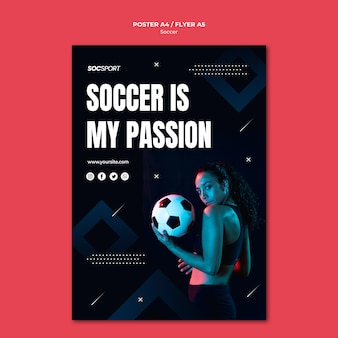 Tema de plantilla de póster de fútbol