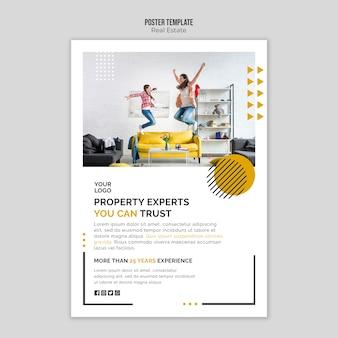 Tema de plantilla de póster inmobiliario