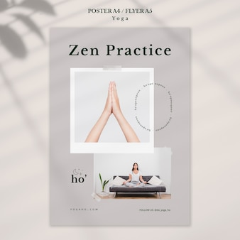 Tema de plantilla de póster de yoga