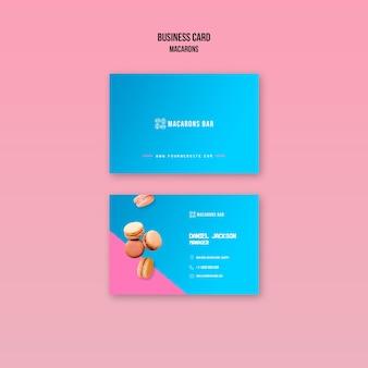 Tema de plantilla de tarjeta de visita macarons