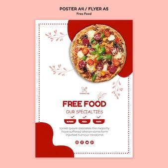 Tema poster cibo gratis