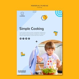 Tema de póster de cocina en casa
