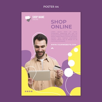 Tema de póster de compras en línea
