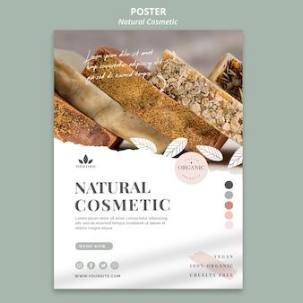 Tema de póster de cosmética natural