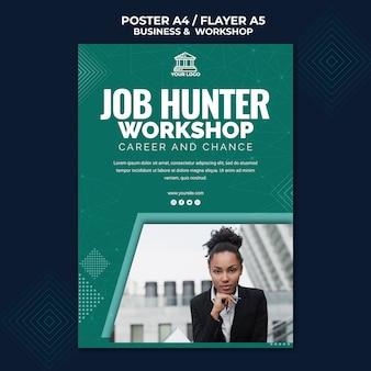 Tema poster di affari e workshop